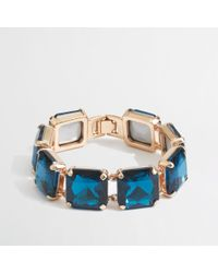 J.Crew Blue Factory Square Stone Bracelet