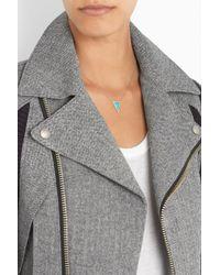Jennifer Meyer   Blue 18karat Gold Turquoise and Diamond Triangle Necklace   Lyst