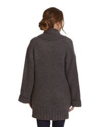 Joules Gray Fallowdale Chunky Open Cardigan