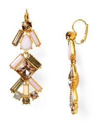 kate spade new york | Pink Baguette Bridal Linear Chandelier Earrings | Lyst