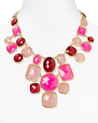kate spade new york - Pink Microfacet Bib Necklace 18 - Lyst