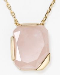 kate spade new york - Pink Stepping Stones Pendant Necklace  - Lyst