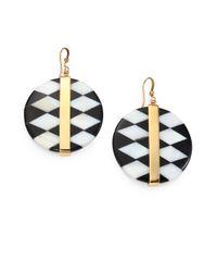 Kelly Wearstler - Black Alesandro Onyx Shell Inlay Drop Earrings - Lyst