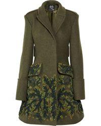 McQ Green The Silkchiffon Embellished Coat