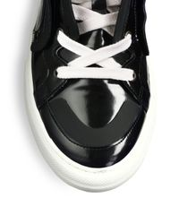 Pierre Hardy Black Shiny Hightop Sneakers