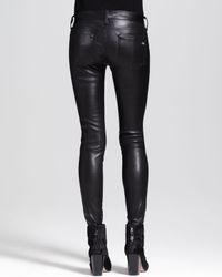 Rag & Bone The Skinny Leather Jeans Black
