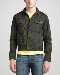 Rag & Bone Green Camo Denim Jacket Olive