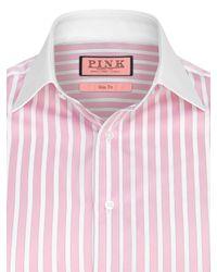 Thomas Pink Pink Gladwin Stripe Shirt for men