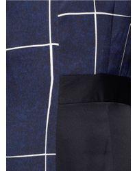 Whistles Blue Slate Print Bodycon Dress