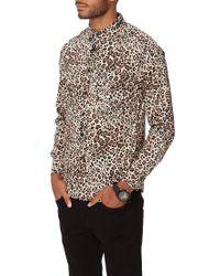 Forever 21 - Multicolor Slim Fit Leopard Print Shirt for Men - Lyst