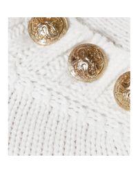 Balmain White Cashmere Pullover