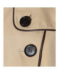 Burberry Natural Leatheraccented Trench Coat