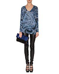 Emilio Pucci - Blue Printed Pattern Dress - Lyst