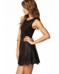 Forever 21 Black Eyelash Lace Cutout Dress