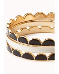 Forever 21 - Black Scalloped Bangle Set - Lyst