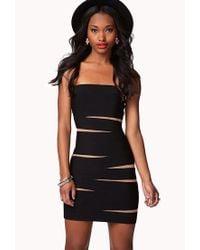 Forever 21 Black Tiger-striped Bodycon Dress