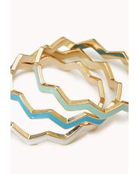 Forever 21 - Multicolor Zigzag Stackable Bangles - Lyst