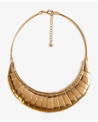 Forever 21 | Metallic Metal Fringe Bib Necklace | Lyst