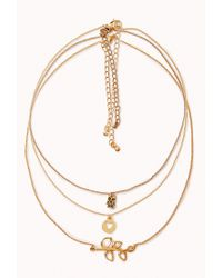 Forever 21 - Metallic Owl Charm Necklace Set - Lyst