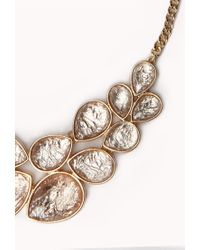 Forever 21 - Metallic Statement Bib Necklace You've Been Added To The Waitlist - Lyst