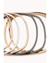Forever 21 - Metallic Stackable Square Bangles - Lyst