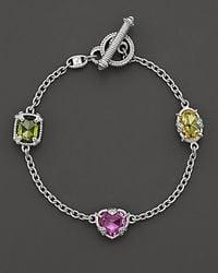 Judith Ripka | Pink 3 Stone Ambrosia Bracelet 725 | Lyst