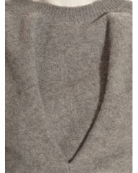 J.W.Anderson Gray Grey Twisted Boiled Wool Sweater