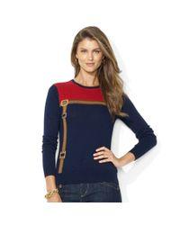 Lauren by Ralph Lauren   Blue Ombre Ribbed Knit Sweater   Lyst