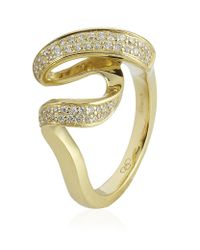 Links of London | Metallic Gold and Diamond Entwine Ring | Lyst
