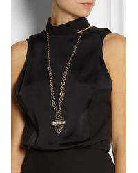 Lulu Frost | Metallic Solar Gold-Plated Crystal Necklace | Lyst