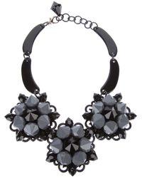 Marina Fossati - Black Flower Necklace - Lyst