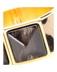 Marni - Metallic Pony Hair And Horn Bracelet - Lyst