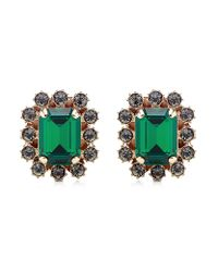 Mawi | Green Crystal Gemstone Clip Earrings | Lyst