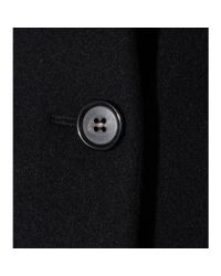Miu Miu Black Furtrimmed Wool and Angorablend Coat