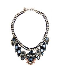 Shourouk | Blue Gilda Crystal Necklace | Lyst