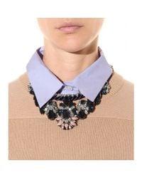 Shourouk | Blue Gilda Crystal Necklace | Lyst