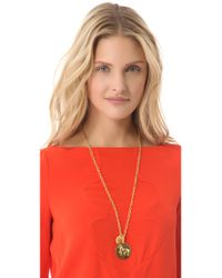 Tory Burch - Metallic Buddy Long Cluster Necklace - Lyst
