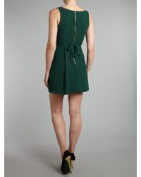 Wal-G Green V Neck Mini Dress