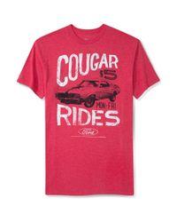 American Rag Red Cougar Rides Tshirt for men