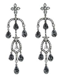 Arunashi | White Diamond Drop Earring | Lyst