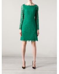 Blumarine Green Lace Dress