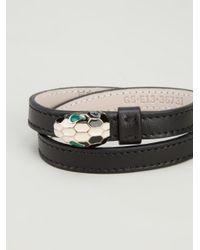 BVLGARI | Black Snake Head Bracelet | Lyst