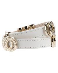 BVLGARI White Logo Bracelet