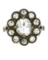 Cathy Waterman | Metallic Diamond Lace Edge Ring | Lyst