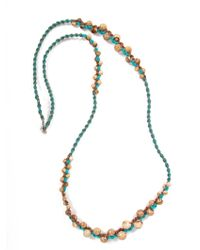 Chan Luu   Blue Beaded Turquoise Necklace   Lyst