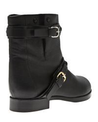 Chloé Black Buckle Strap Boot