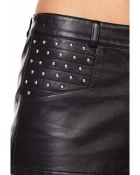 Forever 21 Black Studded Faux Leather Shorts