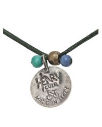 Henry Cuir - Green Fastueux Necklace - Lyst