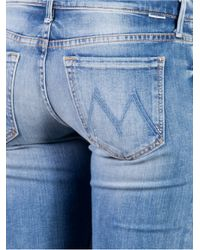 Mother Blue Runaway Skinny Flare Jeans