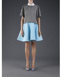 MSGM Blue Circle Skirt